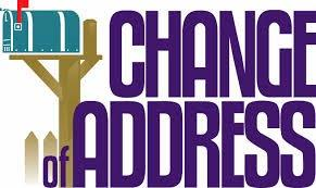 Change of Address Form Click Here